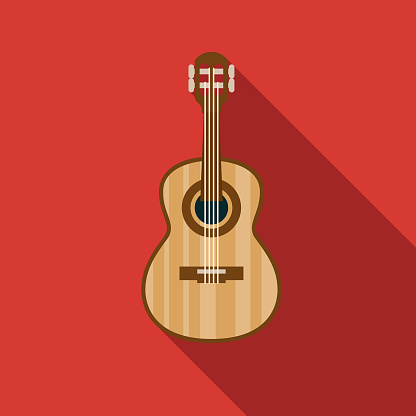 Classical Guitar Musical Instrument Icon