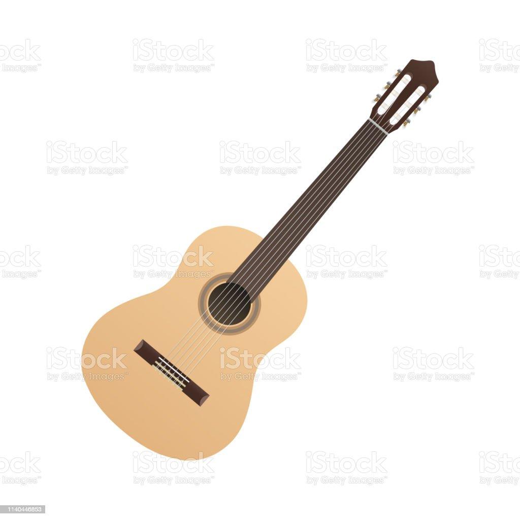 Classical Guitar light color musical strings instrument hispanic...