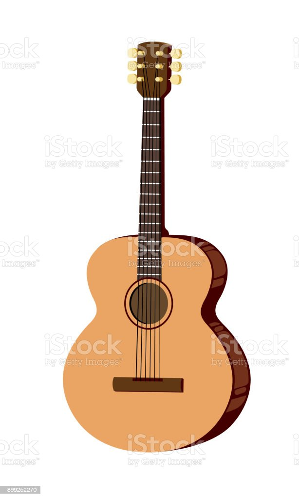 classical guitar stock vector art more images of acoustic guitar rh istockphoto com acoustic guitar silhouette vector free acoustic guitar vector free download