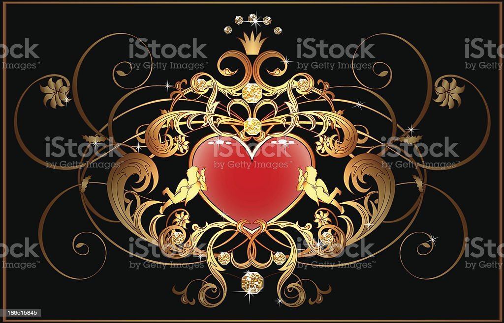 Classical label with heart royalty-free classical label with heart stock vector art & more images of angel