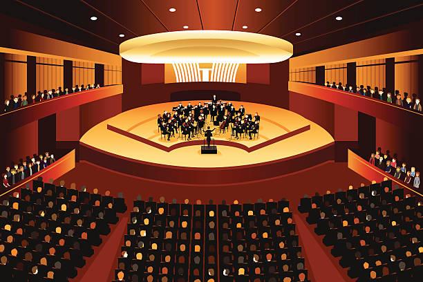 bildbanksillustrationer, clip art samt tecknat material och ikoner med classical music concert - orkester