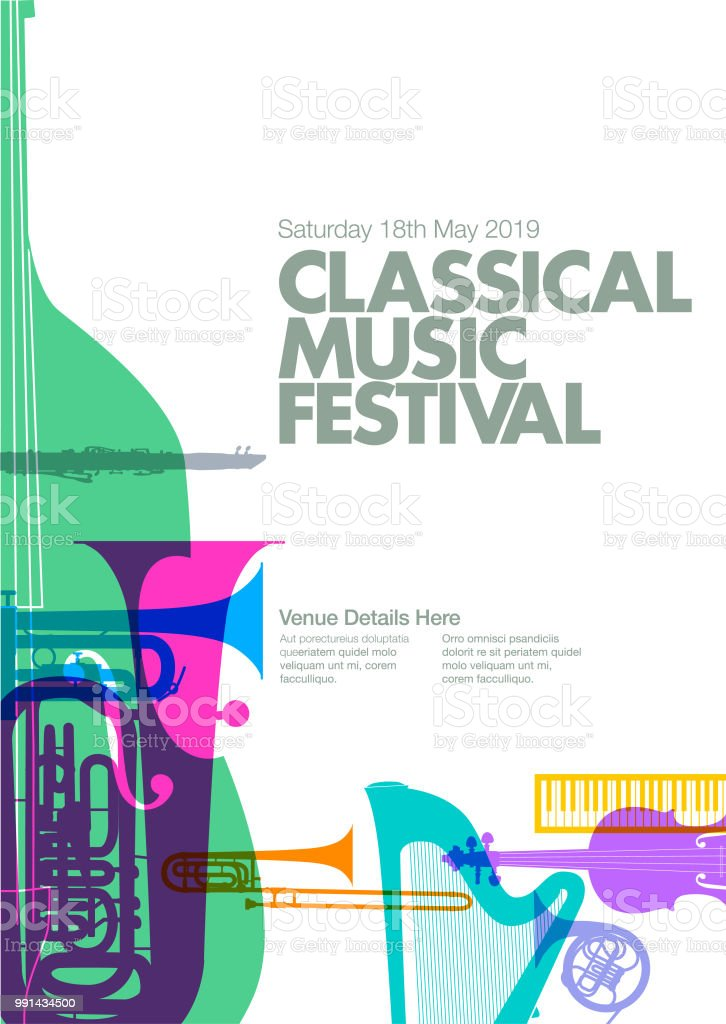 Classical Music Poster Stock Illustration - Download Image Now