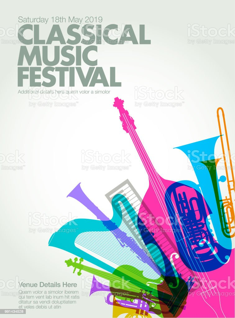 Classical Music Poster Stock Illustration - Download Image Now - iStock