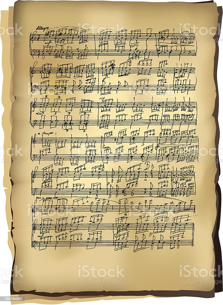 Classical music sheets royalty-free stock vector art