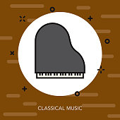 Classical Music Thin Line Germany Icon