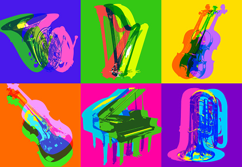 Classical Musical Instrument icons