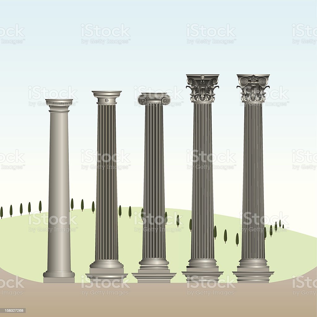Classical orders royalty-free stock vector art