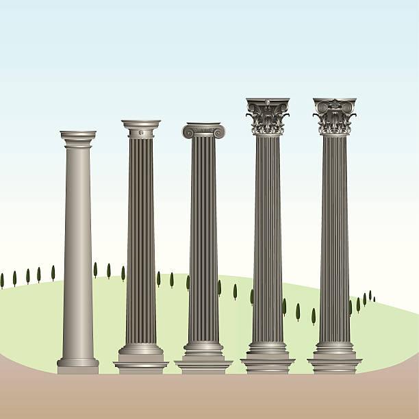 klassische bestellungen - gesims stock-grafiken, -clipart, -cartoons und -symbole
