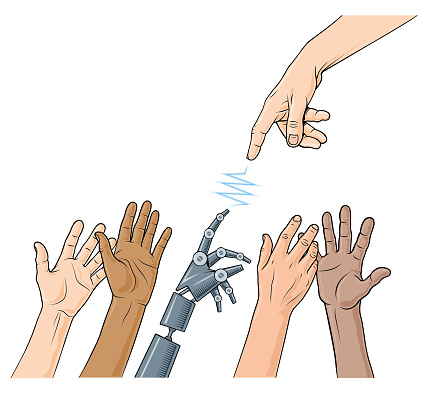 Classical robot reaching hands