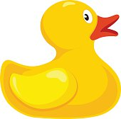 Classical rubber duck isolate on white background