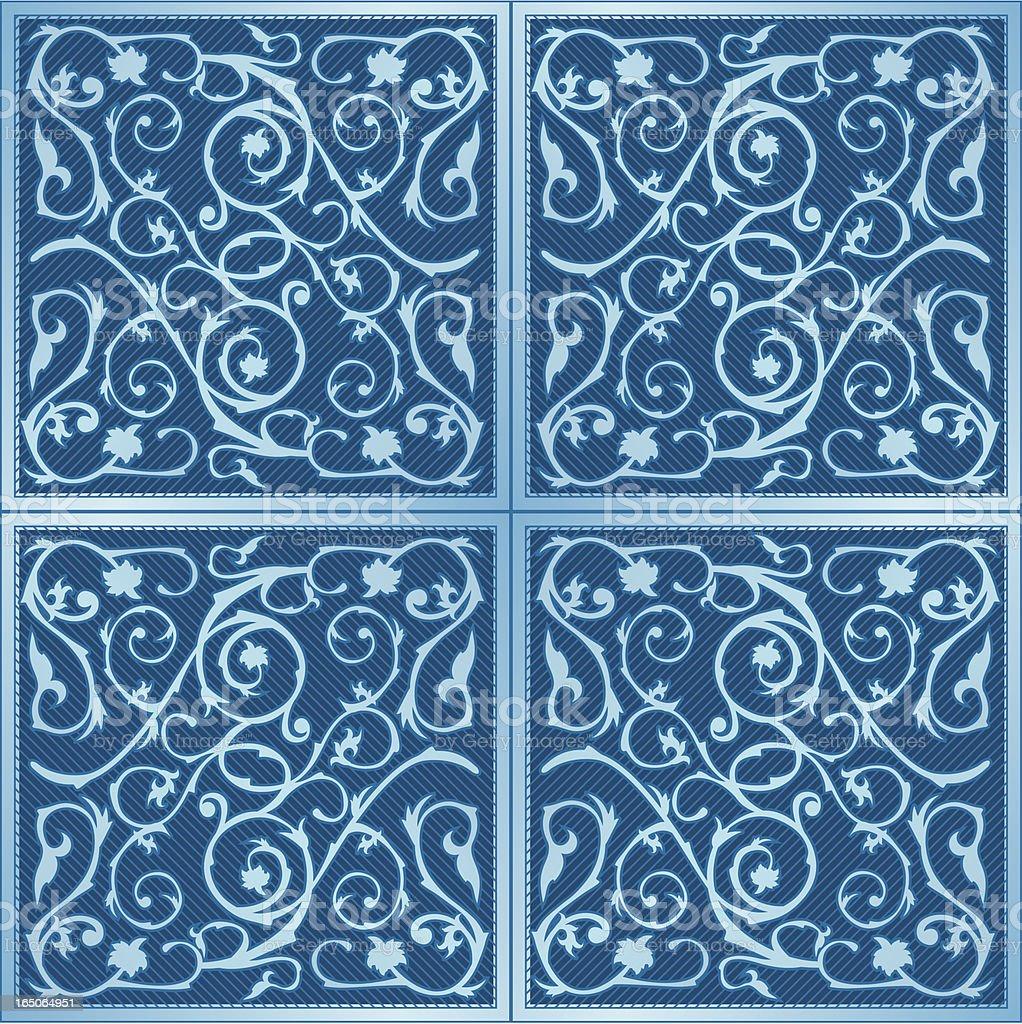 Classical Tiles royalty-free stock vector art