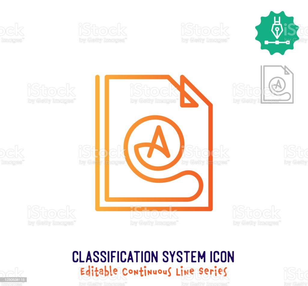 Icone De Modification De La Ligne Continue Du Systeme De Classification Vecteurs Libres De Droits Et Plus D Images Vectorielles De Affaires Istock