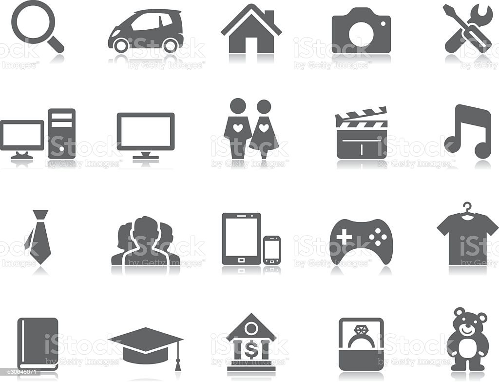 Classified Ads Icons Pictoria Series Stock Illustration - Download