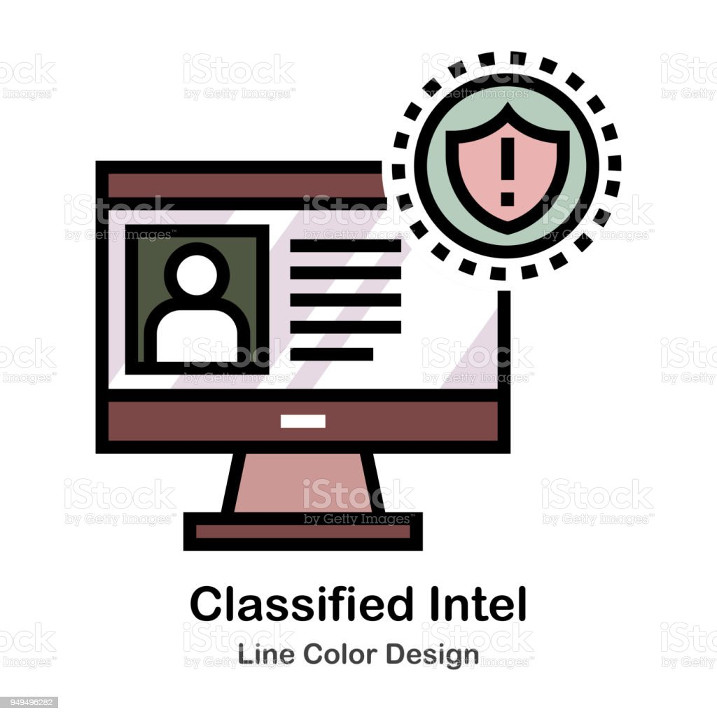 Classified Intel Stock Vector Art More Images Of Computer