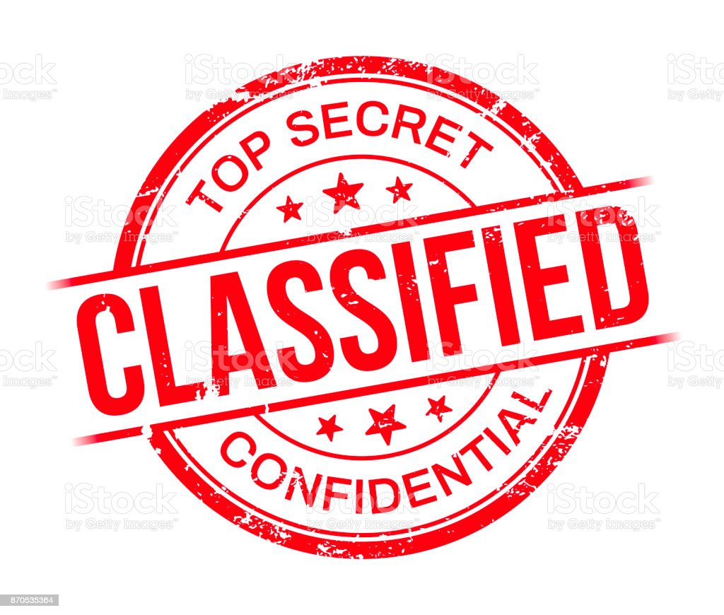 Classified Top Secret Confidential Stamp Royalty Free Stock Vector Art