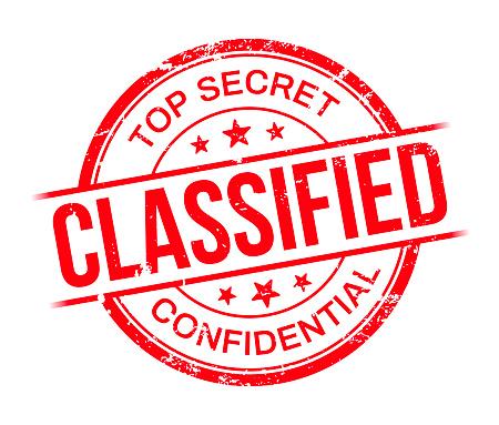 Classified Top Secret Confidential Stamp