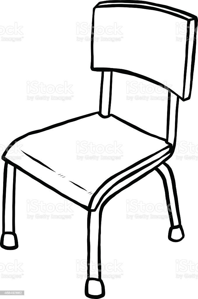 Line Drawing Chair : Classroom chair stock vector art more images of