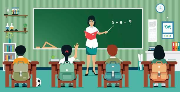 数学教室 - 数学の授業点のイラスト素材/クリップアート素材/マンガ素材/アイコン素材