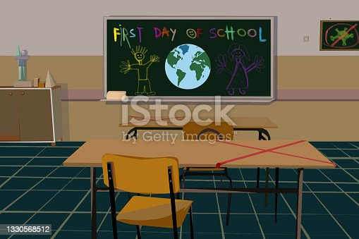 istock Classroom on first day of school 1330568512