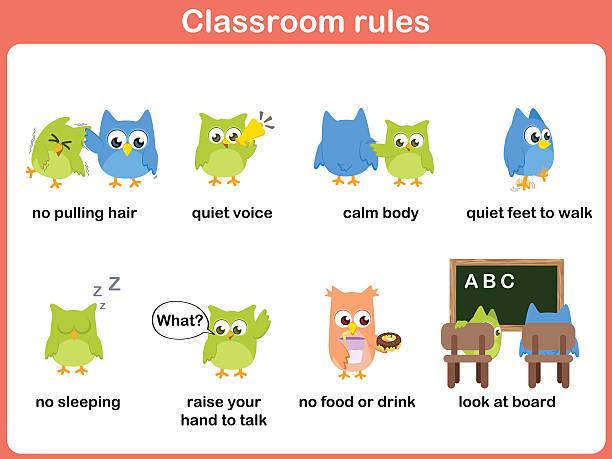 ilustrações de stock, clip art, desenhos animados e ícones de da sala de aulas para as crianças - puxar cabelos