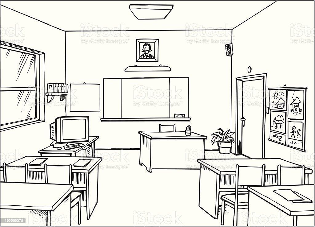 Configuration salle de classe cliparts vectoriels et plus d 39 images de contour 165669378 istock - Dessin classe ...
