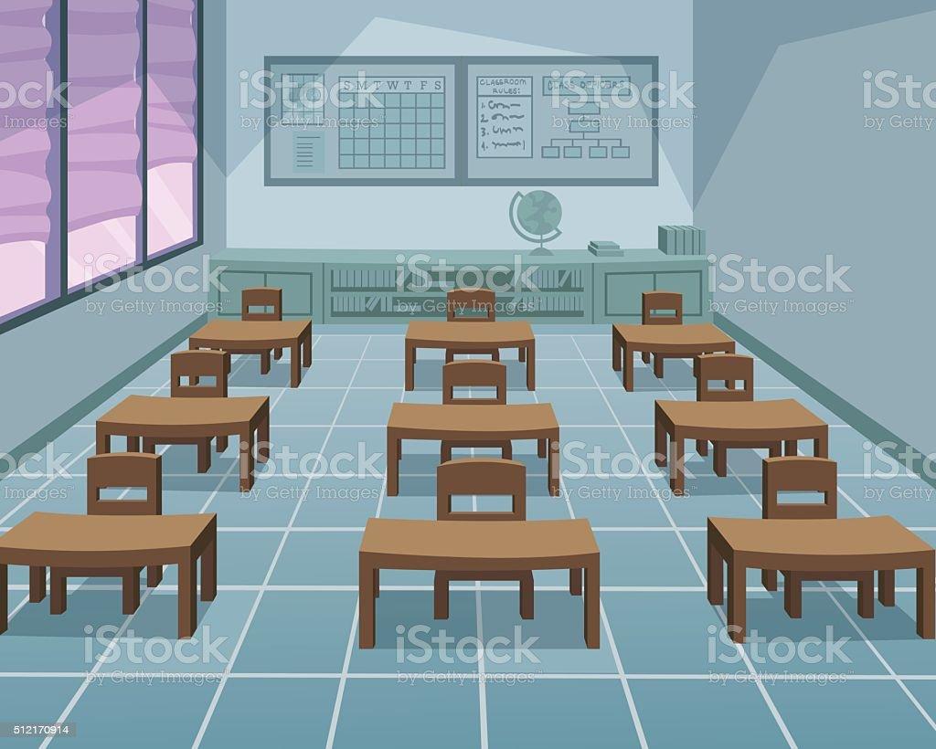 Configuration salle de classe - Illustration vectorielle