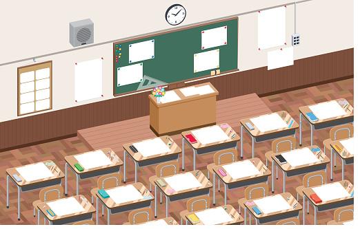 Classroom stock illustrations