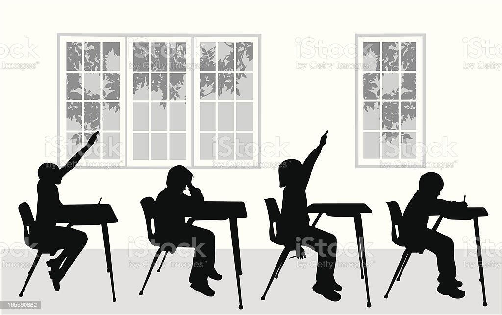 Classroom Vector Silhouette royalty-free stock vector art