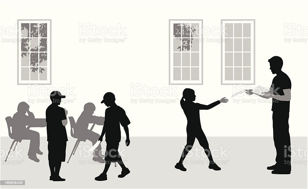 Classroom Vector Silhouette royalty-free stock vector art