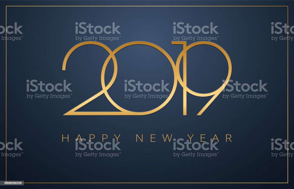 classy 2019 happy new year background golden vector design royalty free classy 2019 happy