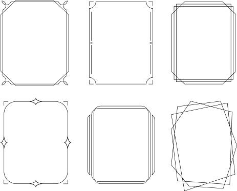 ornate vintage border outline frame design elements