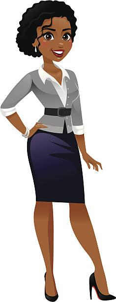 classy business woman - heyheydesigns stock illustrations