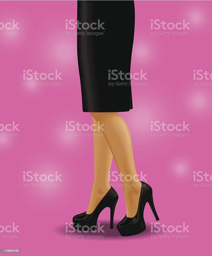おしゃれな女性ウエスト下の高いヒール - イラストレーションのベクター