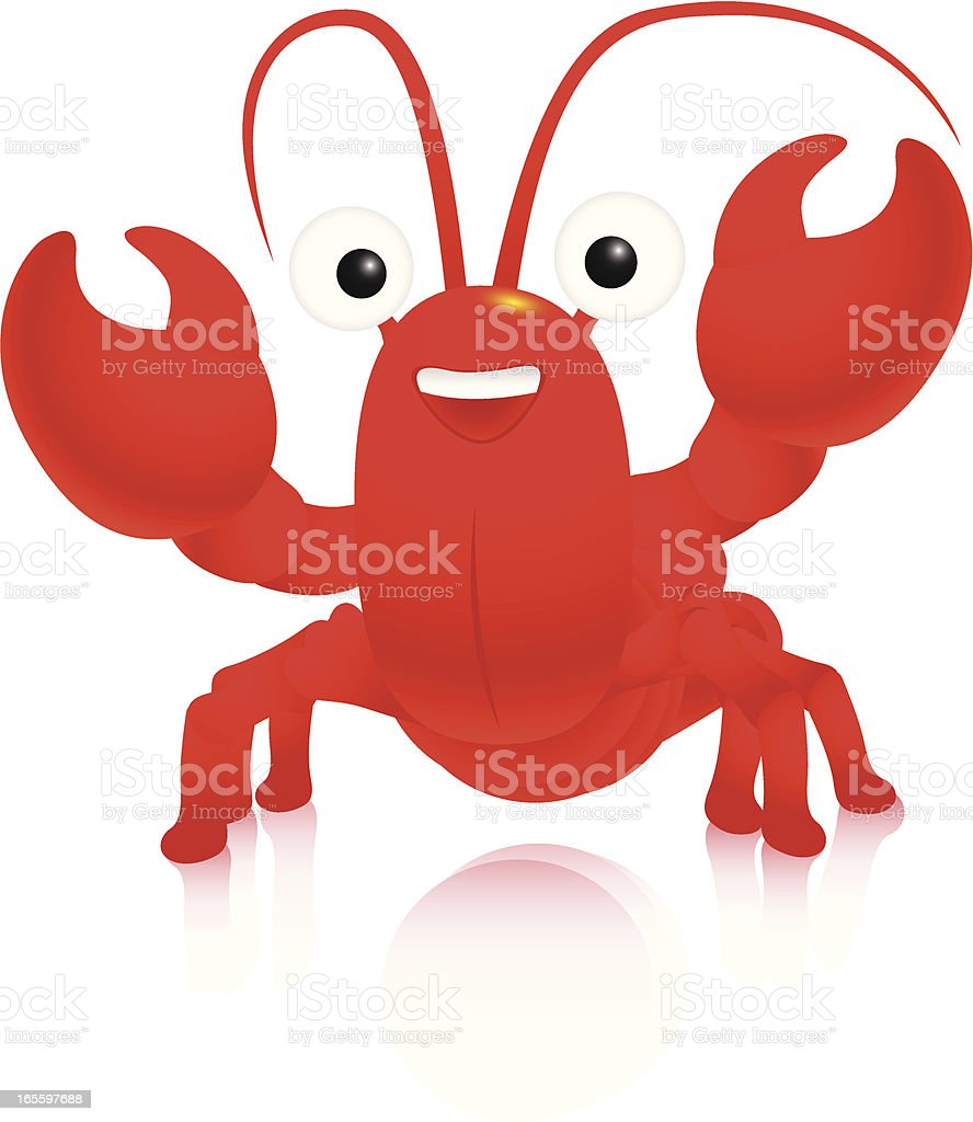 Clawed lobster alive royalty-free stock vector art