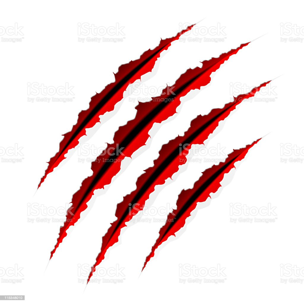 royalty free claw scratch clip art vector images illustrations rh istockphoto com Wolf Claw Marks claw scratch marks clipart