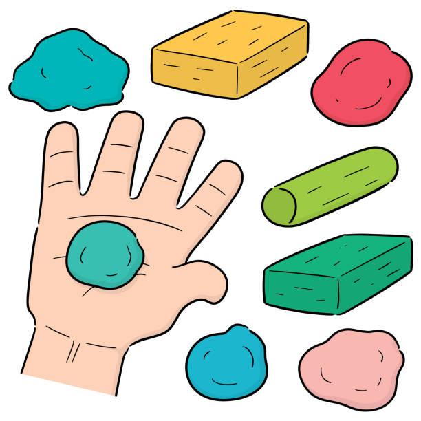 clay for kid – artystyczna grafika wektorowa