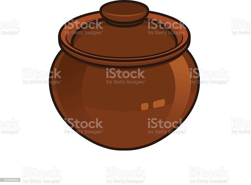 royalty free clay pot clip art vector images illustrations istock rh istockphoto com pot clip art cactus pot clip art images