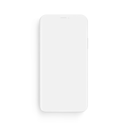 Clay smartphone mockup - front view clipart