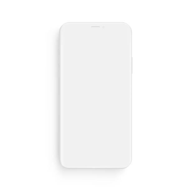 illustrazioni stock, clip art, cartoni animati e icone di tendenza di mockup per smartphone clay - vista frontale - smart phone