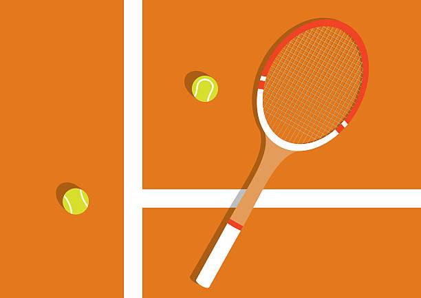 clay tennis court - tennis stock illustrations, clip art, cartoons, & icons