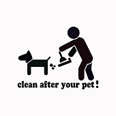 Clean after pet vector  icon.