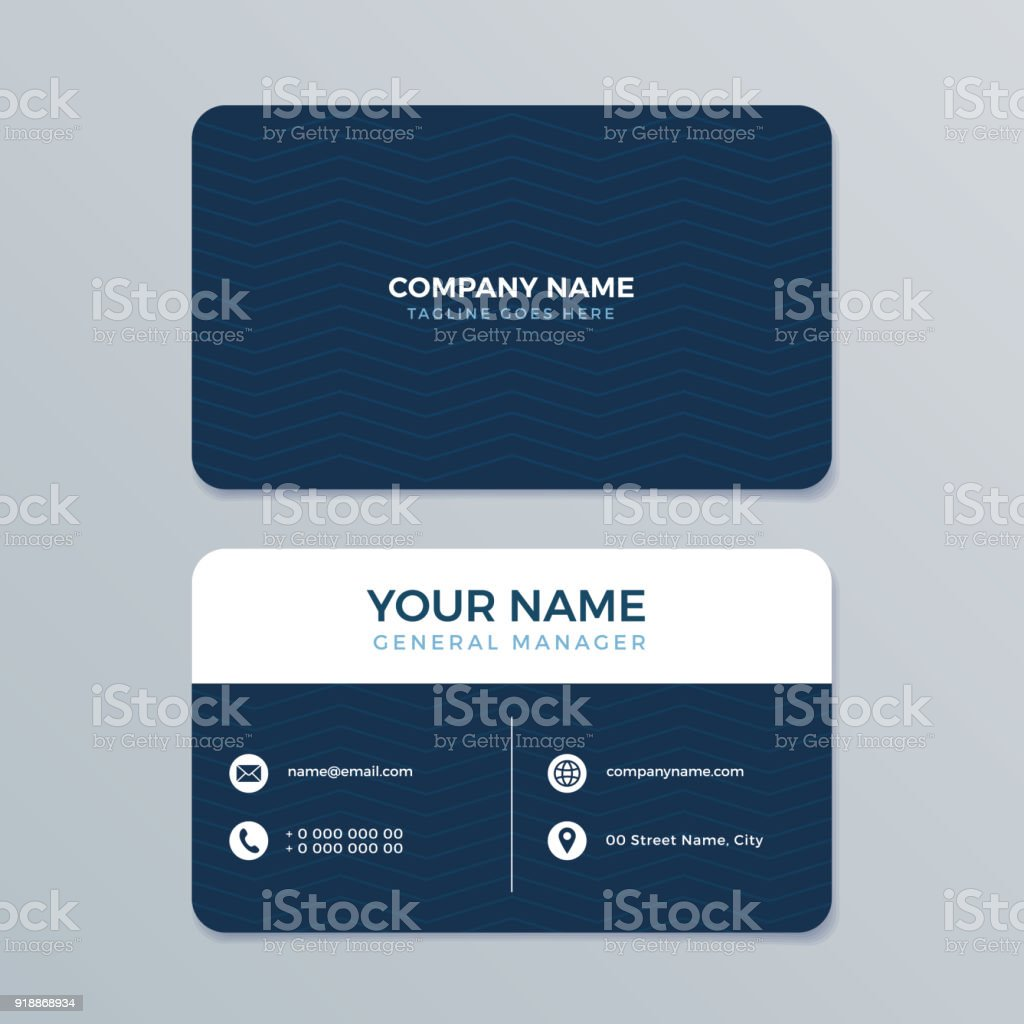 Clean and modern business card template stock vector art 918868934 clean and modern business card template royalty free stock vector art alramifo Image collections