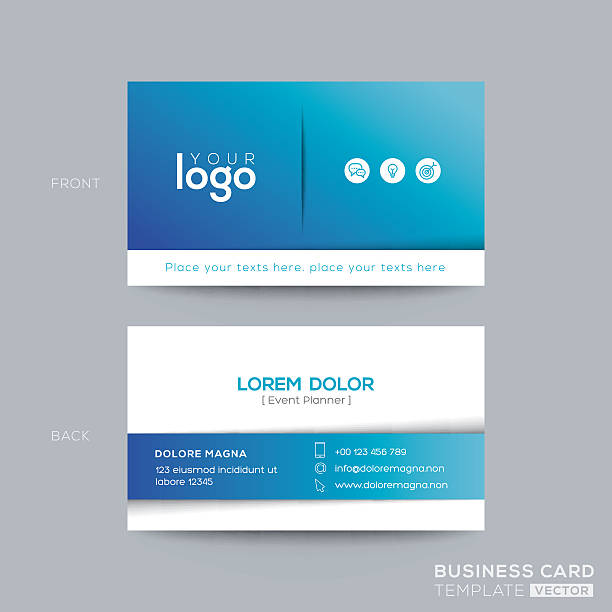 Royalty free business card clip art vector images illustrations clean and simple blue business card design vector art illustration wajeb Choice Image