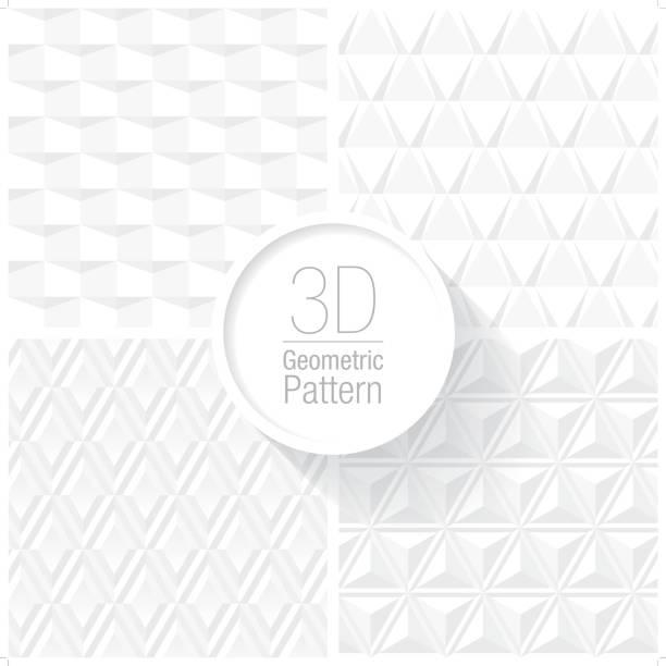 クリーンでシンプルな白の幾何学模様セット 4 - ファブリックのテクスチャ点のイラスト素材/クリップアート素材/マンガ素材/アイコン素材