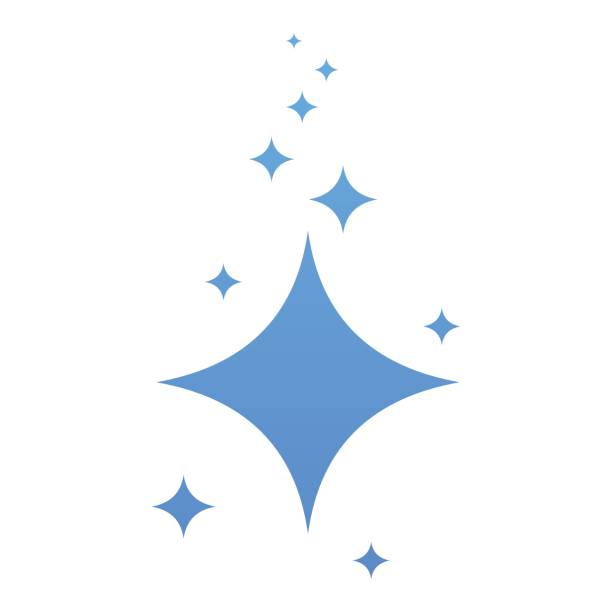 clean blue stars icon vector art illustration