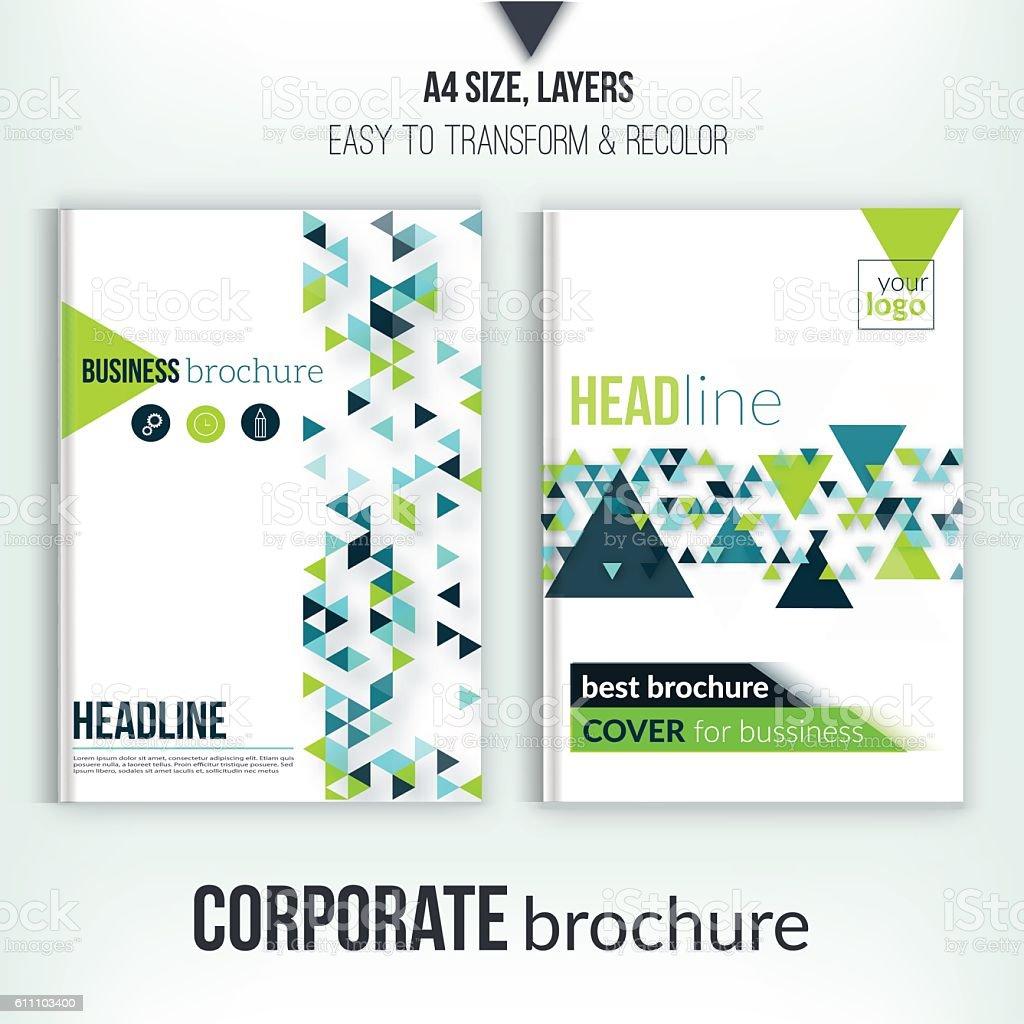 Clean Brochure Design Annual Report Cover Template Magazine Flyer – Report Cover Template Free