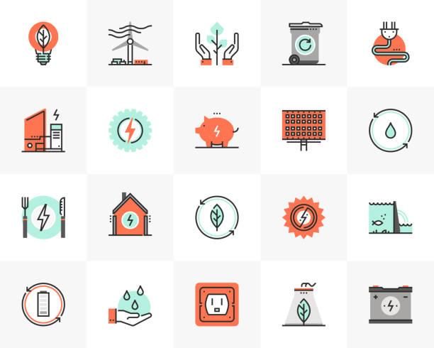 Clean Energy Futuro Next Icons Pack vector art illustration