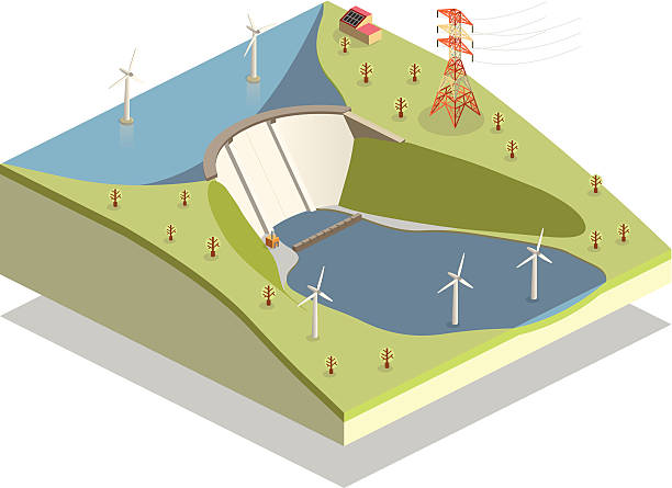 clean energy vector art illustration