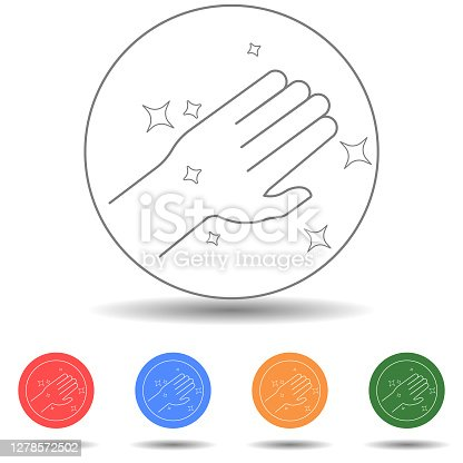 Clean hand vector icon isolated background