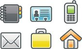clean icons: address book